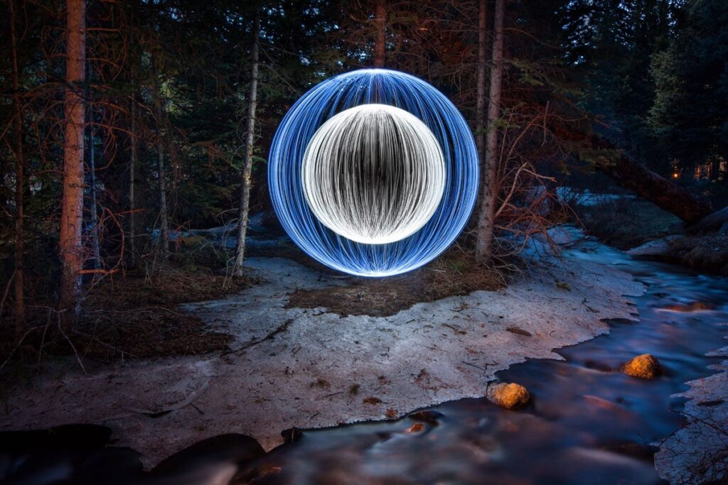 light painting with phone