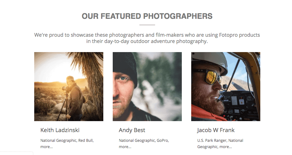 Fotopro featured photographers