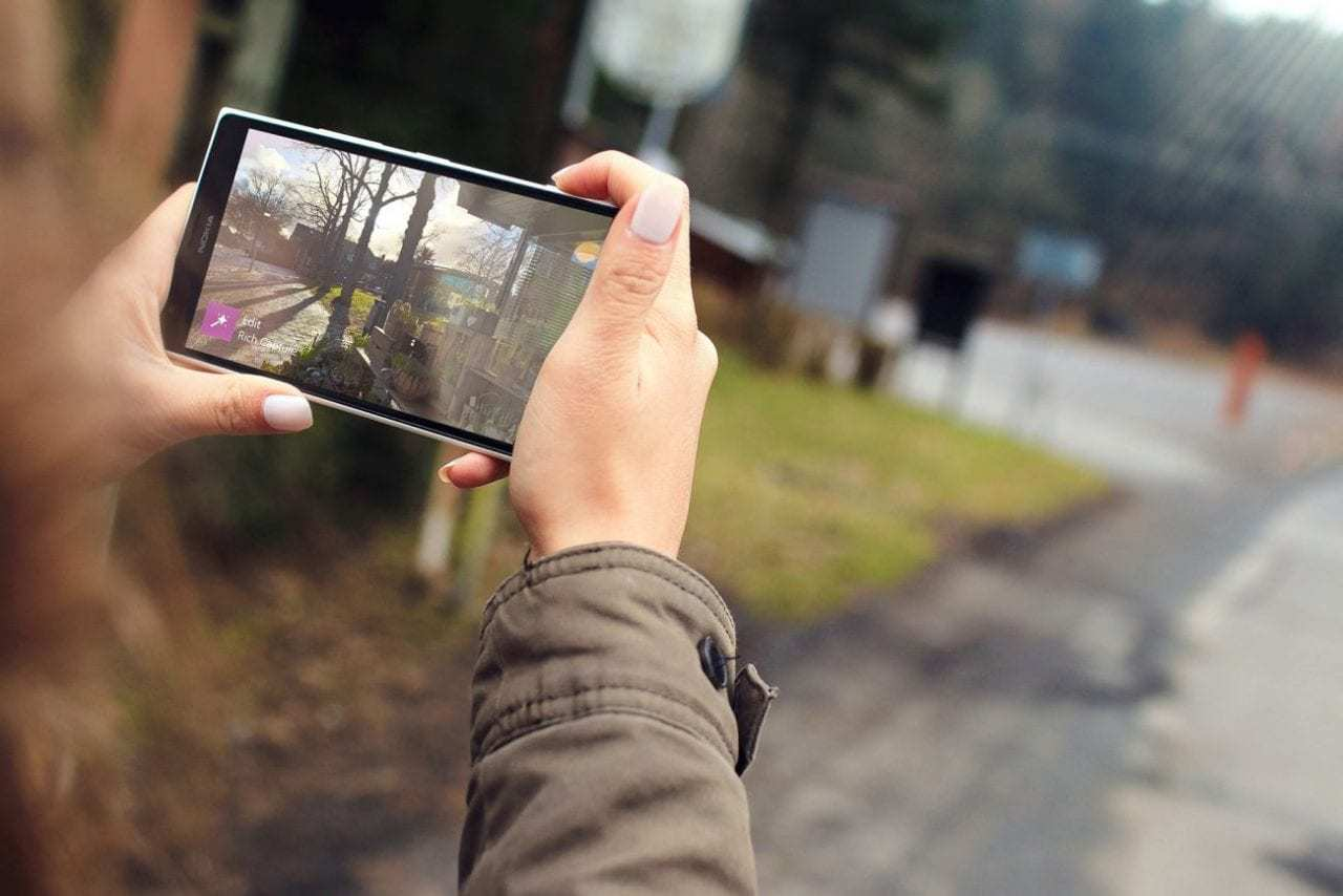 Stock Photography on a smartphone